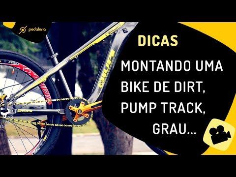 Como montar uma bike de dirt e pump track (wheeling/grau) com quadro Naja da HUPI. Pedaleria