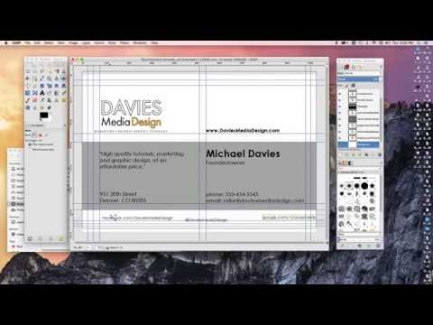 How to Make a Business Card in GIMP 2.8
