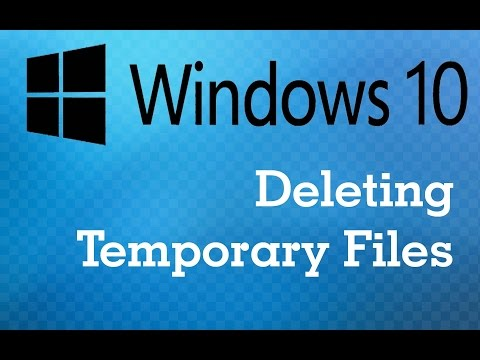 Windows 10 : Deleting Temporary Files