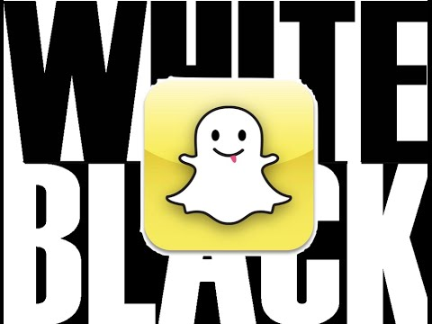 Snapchat pro tips, black and white colors