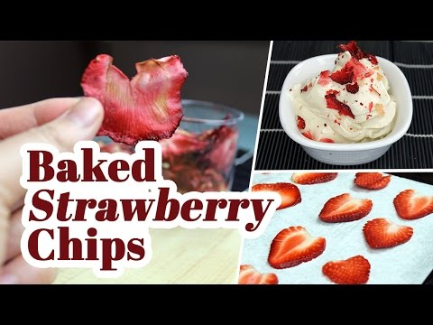 Baked Strawberry Chips | Movie Snacks! | Vegan Recipe (giveaway closed)
