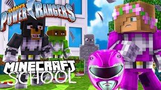 Minecraft School - LITTLE KELLY IS THE PINK POWER RANGER!?