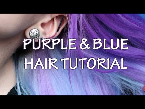 Purple and blue hair tutorial