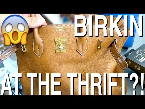 GOODWILL HUNTING - I FOUND AN HERMES BIRKIN BAG AT THE THRIFT?!?!?