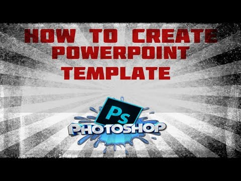 PHOTOSHOP : How to create a powerpoint template with photoshop elements