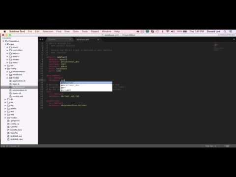 Ruby on Rails Tutorial 02 Database Configurations