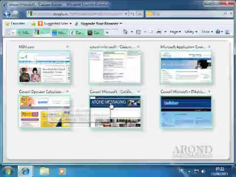 Using Windows 7 - Open a Web Page in a Tab