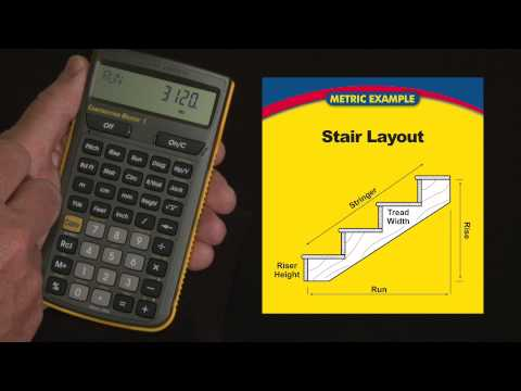 Construction Master 5 (Metric) Stair Layout Calculations How To