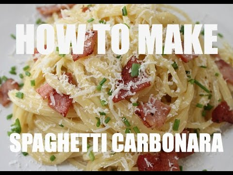 HOW TO MAKE - Spaghetti Carbonara