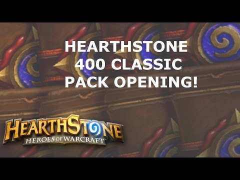 [Hearthstone] 400 Classic Packs Opening! WAHH GOLDEN LEGENDARY!