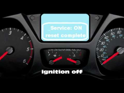 How to reset service/oil/insp light on Ford transit