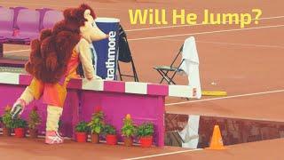 Mascot Hero The Hedgehog - Jumps Into Water - World Athletics Championships London 2017