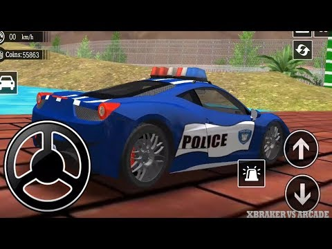 Police Drift Car Simulator Driving | Offroad Cars Game: Blue Police Car Unlocked - Android GamePlay