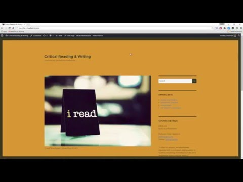 Critical Reading & Writing Course Overview