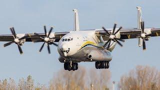 ANTONOV AN-22 - The BIGGEST PROPELLER PLANE in the world - Landing and Departure (4K)