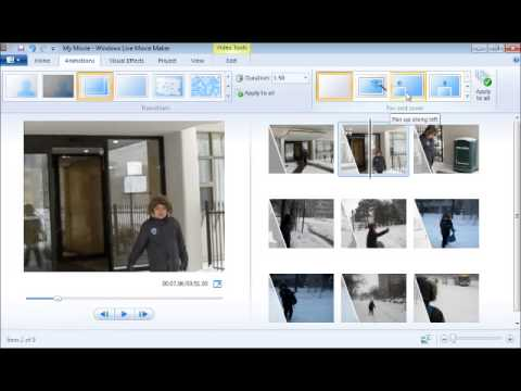 Module #3 - Adding Animations and Visual Effects Using Windows Live Movie Maker