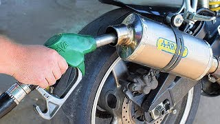 EXPERIMENT GASOLINE in MOTORCYCLE EXHAUST