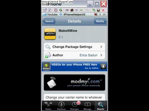 How to change carrier logo and banner on iphone