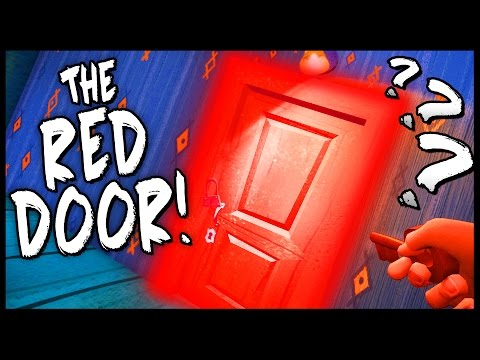 WHAT'S BEHIND THE RED DOOR!? Red Lock & Red Key! - Hello Neighbor Alpha 4 [Hello Neighbor Gameplay]