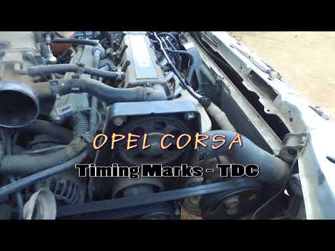 OPEL CORSA ( 2003 ) - TIMING MARKS ( TDC )