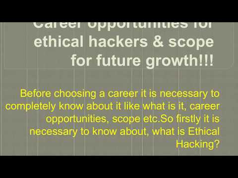 Career opportunities for ethical hackers