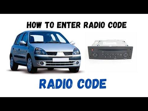 Renault Clio 1.2 how to enter radio codes.Reg.02