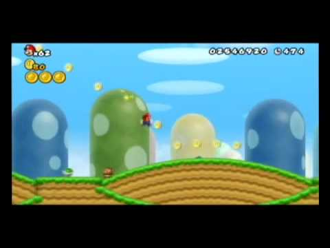 New Super Mario Bros. Wii World 1-1 Speed Run (No Items)