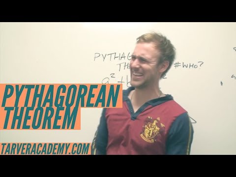 Pythagorean Theorem a2+b2=c2 changed my lyfe // TARVER ACADEMY MATH