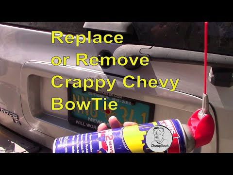 Remove or Replace your CRAPPY Chevy bowtie emblem....