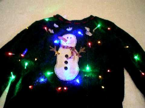 Ugly Christmas Sweater Light up Video.AVI