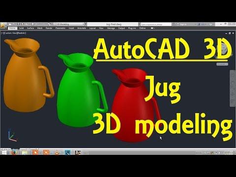 Jug AutoCAD 3D modeling tutorial   AutoCAD 3D Modeling 20