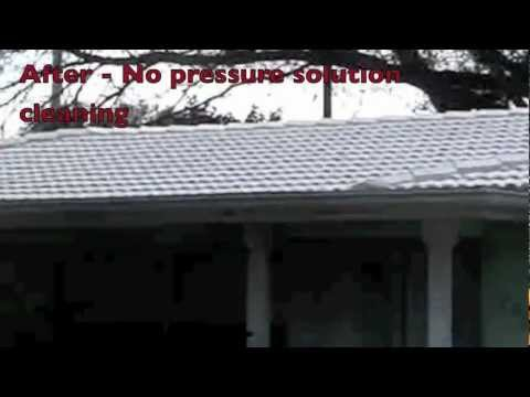 Largo,FL Barrel tile roof cleaning   727-584-6622