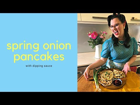 Chinese Spring Onion Pancakes // Asian Snack // The Gardenettes