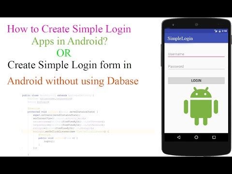 How to Create Simple Login form in Android Studio Without using Database? [With Source Code]