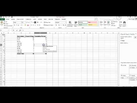 How to create a Pareto Chart with Pivot Table