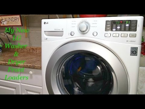 Review Pt 1 - We Chose to Buy the  LG Front Load Washer and Dryer!