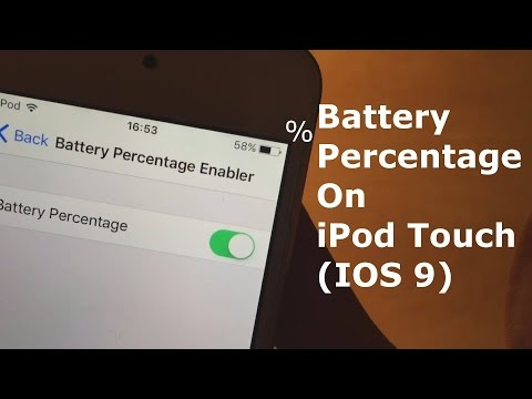 Battery Percentage on iPod touch (IOS 10)