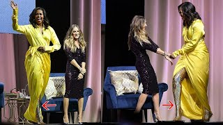 Download 'Becoming' Event: Michelle Obama shocked with $4,000 glittery thigh-high Balenciaga boots Video
