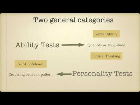 Crash Course in Psychometric Testing Module-2: Ability and Personality Tests