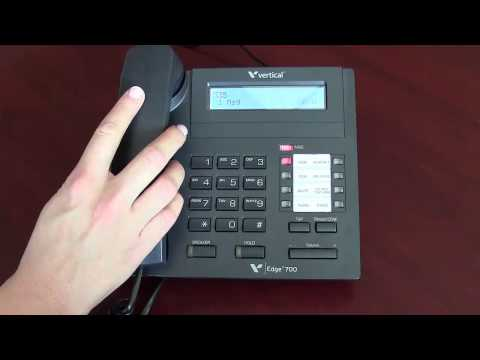 Vertical Edge 8 Button Digital: Hot to Dial an Extension