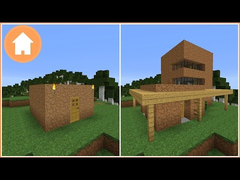 Minecraft: Transforming a Dirt House into a Modern House