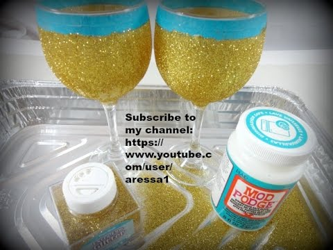 Glitter Wine Glass Video