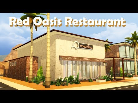 Sims 4 | House Building | Red Oasis Restaurant