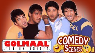 Golmaal Fun Unlimited - All Comedy Scenes - Ajay Devgn - Arshad Warsi #IndianComedy