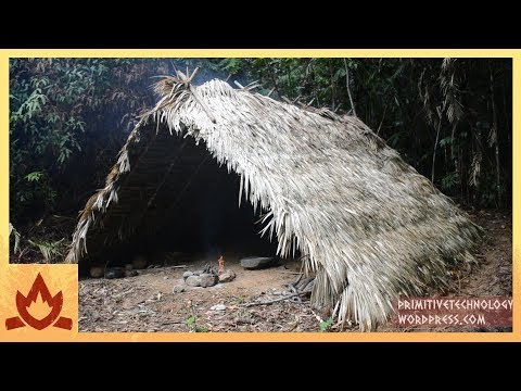 Primitive Technology: A-frame hut