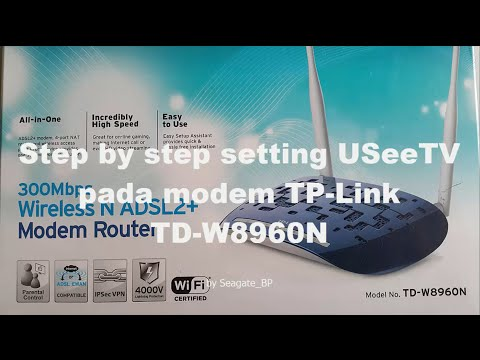 Setting UseeTV Pada Modem TP-Link TD W8960N
