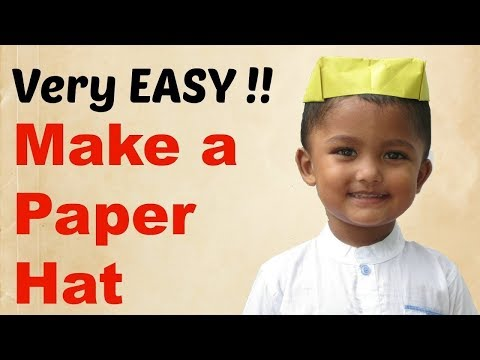 How To Make a Paper Hat  Origami - Very Easy and Simple Folds - Step by Step Tutorial