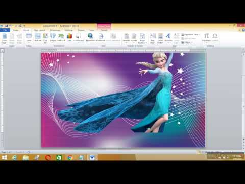How to edit a Photo banner using Microsoft Word..