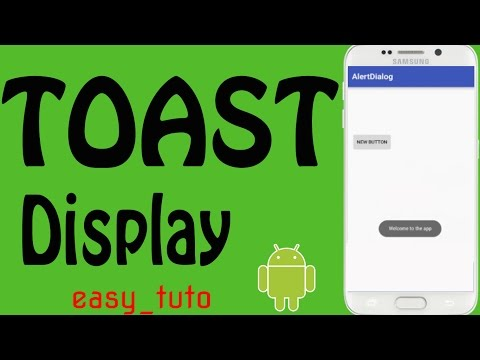 Toast Message in Android App | Android Studio Tutorial (Beginners) HD | All About Android