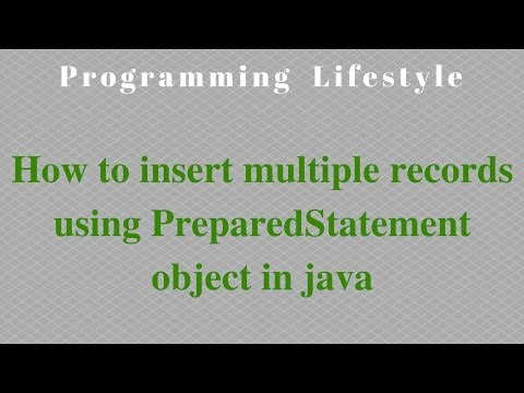 JAVA: How to insert multiple records using PreparedStatement object in java